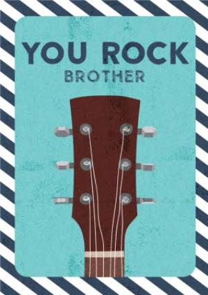 Greeting Cards - Brother birthday card - you rock guitar - Image 1
