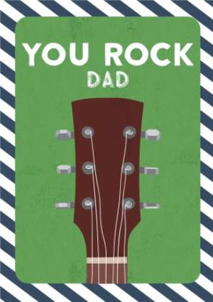 Greeting Cards - Dad birthday card - you rock guitar - Image 1