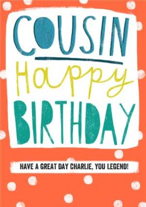 Greeting Cards - Cousin - Happy Birthday card - Image 1