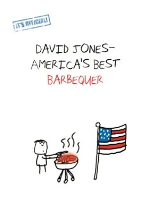 Its Official Americas Best Barbequer Personalised Birthday Card