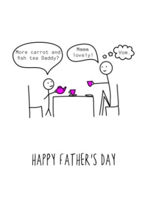 Greeting Cards - Stick Figure Conversations Father's Day Card - Image 1