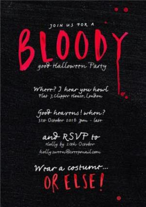 Greeting Cards - Bloody Scary Halloween Party Invitation - Image 1