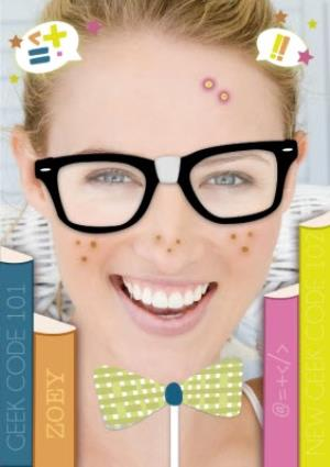 Greeting Cards - Bookworm Face Upload Card - Image 1