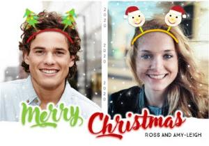 Greeting Cards - Christmas Ears Photo Upload Christmas Card - Image 1
