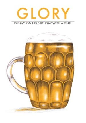 Greeting Cards - Birthday card - beer - pint glass - Image 1