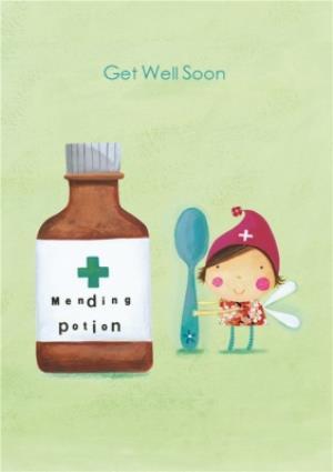 Greeting Cards - Cartoon Fairy Get Well Soon Card - Image 1
