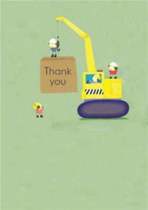 Greeting Cards - Cartoon Construction Site Personalised Card - Image 1
