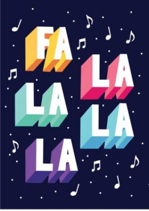 Greeting Cards - Fa La La La La Christmas Card - Image 1