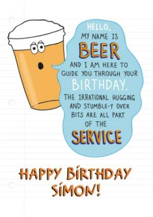 Greeting Cards - Beer Birthday Card - Funny Birthday Card - Image 1