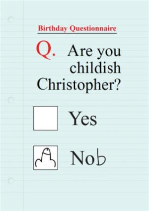 Greeting Cards - Childish Birthday Card - Send a funny birthday card. - Image 1