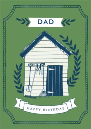 Greeting Cards - Birthday card - Garden Shed - Dad - Image 1