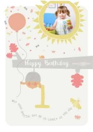 Greeting Cards - 1st birthday photo upload card  - Image 1