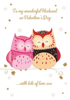 Card Valentines Day New Love For My Wonderful Husband