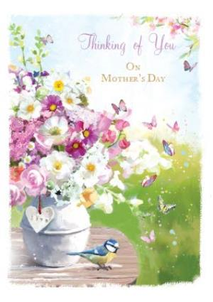 Greeting Cards - Bunches Of Spring Flowers Thinking Of You Mothers Day Card - Image 1