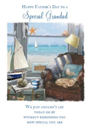 Greeting Cards - By The Sea Grandad Fathers Day Card - Image 1