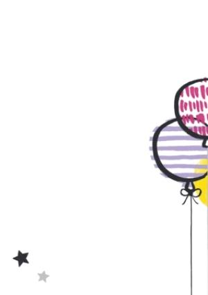 Greeting Cards - Bright Balloons And Cake Happy Birthday Photo Card - Image 2