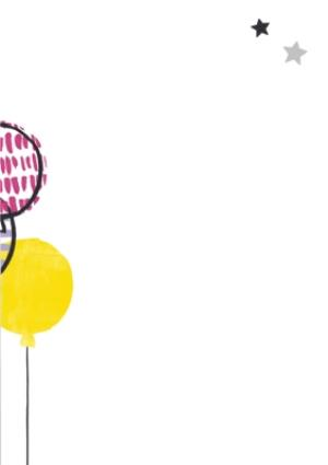Greeting Cards - Bright Balloons And Cake Happy Birthday Photo Card - Image 3