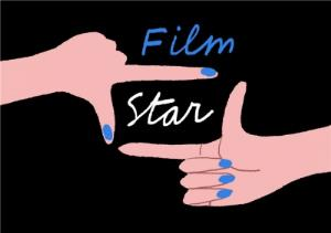 Greeting Cards - Film Star - Hand Talking - Illustration - Graphic - Image 1