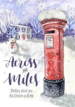 Greeting Cards - Across The Miles Christmas Card - Image 1