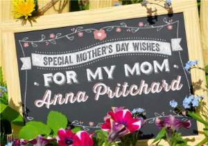 Greeting Cards - Black Chalkboard Flowers And Wishes Personalised Happy Mother's Day Card - Image 1