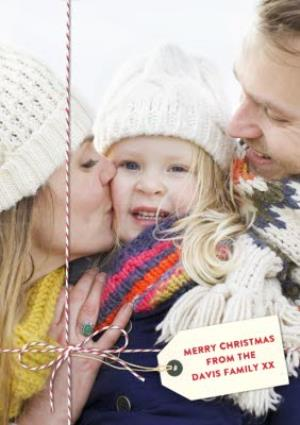 Greeting Cards - Family Photo Christmas Card - Image 1