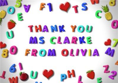 Fridge Magnet Personalised Teacher Thank You Card Moonpig