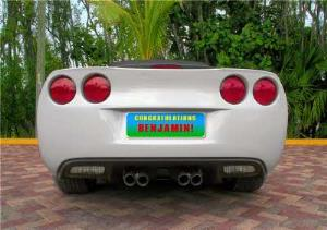 Greeting Cards - American License Plate On A Corvette Personalised Congratulations Card ` - Image 1