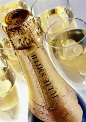 Greeting Cards - Champagne Bottle With Name On Personalised Card - Image 1