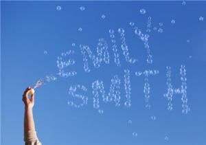 Greeting Cards - Personalised Text Bubbles Up In The Sky Card - Image 1