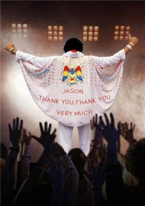 Greeting Cards - Elvis Cape Personalised Thank You Card - Image 1