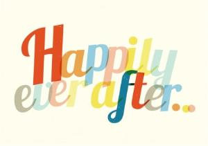 Greeting Cards - Colourful Happily Ever After Wedding Day Card - Image 1