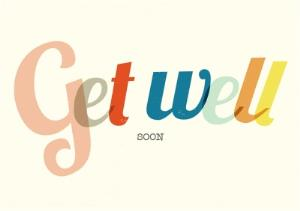 Greeting Cards - Colourful Letters Personalised Get Well Soon Card - Image 1