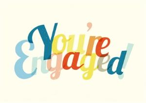 Greeting Cards - Colourful You're Engaged Card - Image 1
