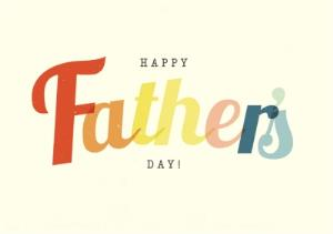 Greeting Cards - Colourful Vintage Lettering Father's Day Card - Image 1