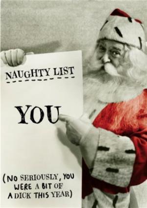 Greeting Cards - Christmas Card - Naughty List - Santa Claus - Father Christmas - Image 1