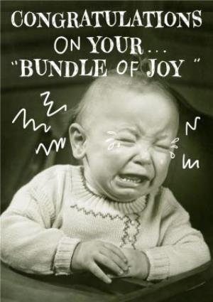Greeting Cards - Bundle Of Joy Vintage Crying Baby Card - Image 1