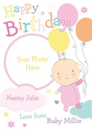 Greeting Cards - Happy Birthday From The Baby Photo Card - Image 1