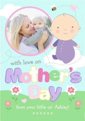 Greeting Cards - Bright Pastel Letters Personalised And Photo Mothers Day Card - Image 1