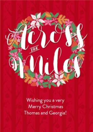 Greeting Cards - Across The Miles Wreath Card - Image 1