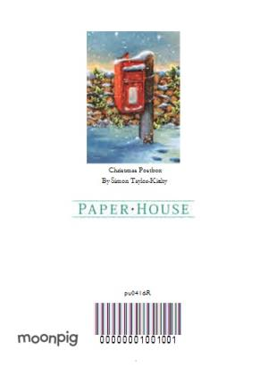 Greeting Cards - Robin On A Snow Covered Post Box Personalised Merry Christmas Card - Image 4