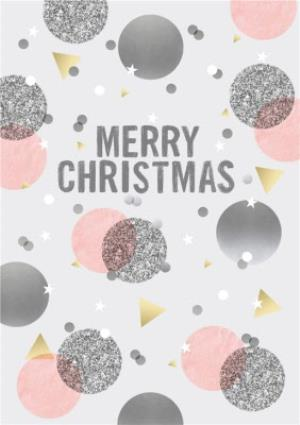 Greeting Cards - Confetti Background Christmas Card - Image 1
