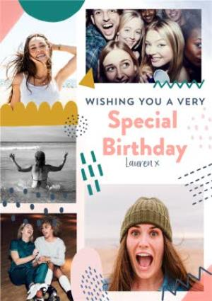 Greeting Cards - Collage Photo Upload Special Birthday Card  - Image 1