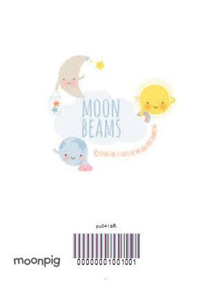 Greeting Cards - Cartoon Stars And Moon Hello World New Baby Card - Image 4