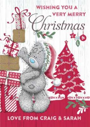 Greeting Cards - Me To You Tatty Teddy Wishing A Very Merry Christmas Card - Image 1