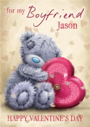 Greeting Cards - Tatty Teddy Huggable Heart Personalised Happy Valentine's Day Card For Boyfriend - Image 1