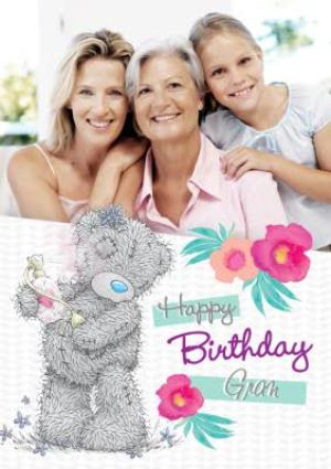 Greeting Cards - Me To You Tatty Teddy And Flowers Happy Birthday Gran Photo Card - Image 1