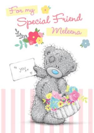 Tatty Teddy With Basket And Card For You Personalised Special Friend