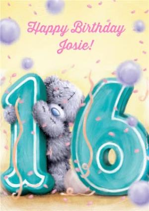 Greeting Cards - Tatty Teddy Lemon And Violet Personalised Happy 16th Birthday Card - Image 1