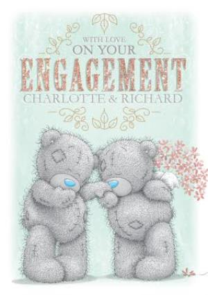 Greeting Cards - Tatty Teddy In Love Personalised On Your Engagement Card - Image 1
