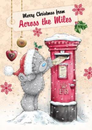 Greeting Cards - Me To You Tatty Teddy Postbox Across The Miles Christmas Card - Image 1